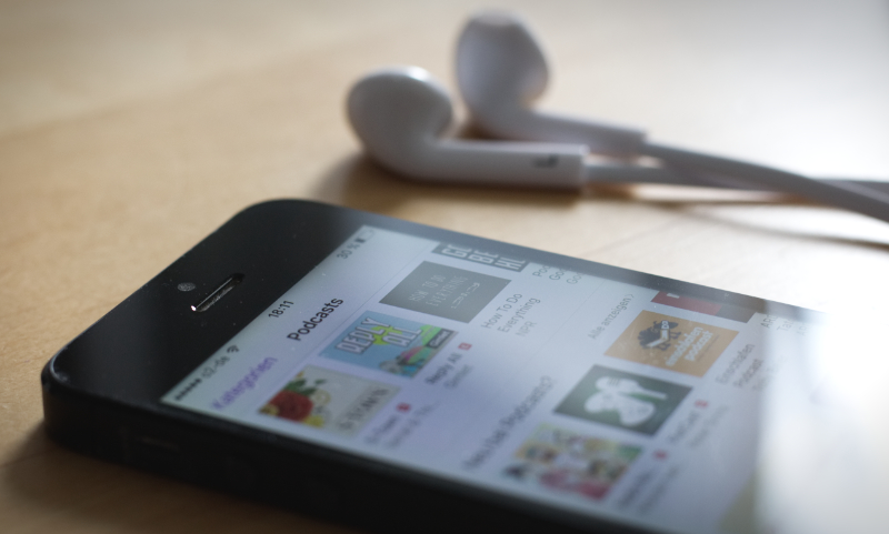 Podcasts auf Smartphone